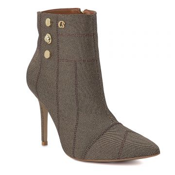 Ankle Boot Metalic Costure - Carmen Steffens