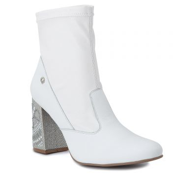 Ankle Boot White Cristais - Carmen Steffens