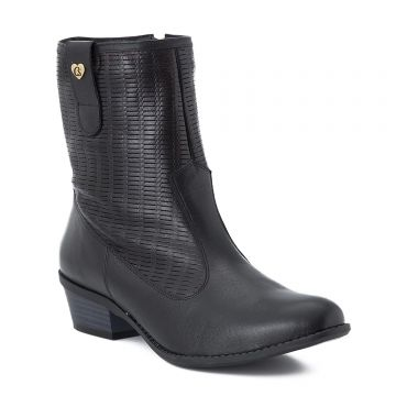 Ankle Boot Black Telinha Club - Carmen Steffens