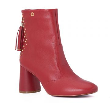 Ankle Boot Red Tassel - Carmen Steffens