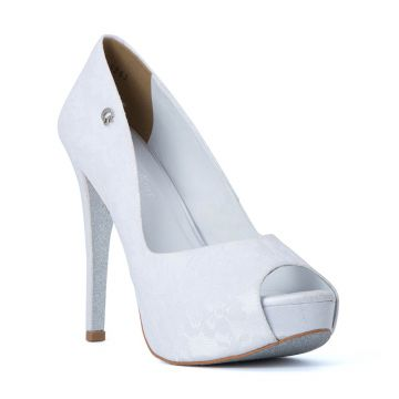 Peep Toe Opened Wedding Branco - Carmen Steffens