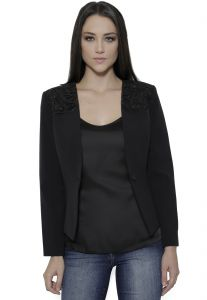 Blazer Richini Crepe Preto Richini