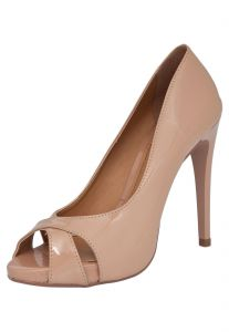 Peep Toe DAFITI SHOES Recorte Meia Pata Nude DAFITI SHOES
