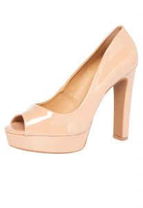 Peep Toe DAFITI SHOES Meia-Pata Nude DAFITI SHOES