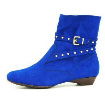 Bota Infinity Shoes Cano Curto Azul Bic Infinity Shoes