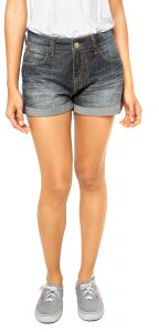 Short Jeans Colcci Hot Pant Rose Amassados Italiana Azul Co