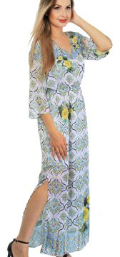 Vestido Longo 101 Resort Wear Estampado 101 Resort Wear