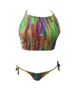 Top By Silvia Schaefer Cropped Rainbow Multicolorido By Sil