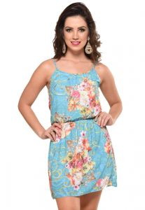 Vestido PKS GIRL Costas Renda Estampado PKS GIRL