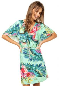 Vestido Lucy in the Sky Curto Cachecour Prints Verde Lucy i