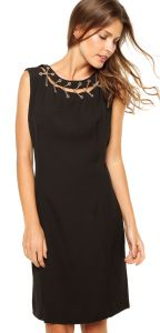 Vestido Holin Stone Correntes Preto Holin Stone