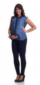 Camisa 1 a 9 Adulto Gestante Jeans Duo Jeans 1 A 9