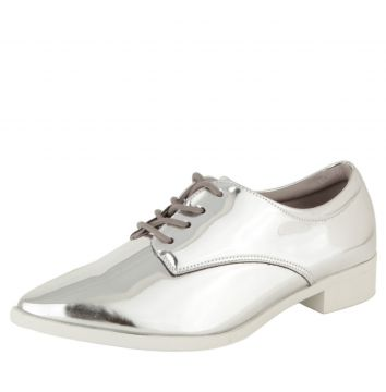 Oxford DAFITI SHOES Bico Fino Prata DAFITI SHOES