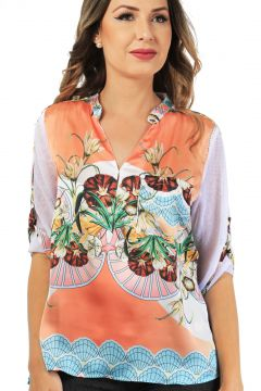 Camisa 101 Resort Wear Com Bolso Estampada 101 Resort Wear