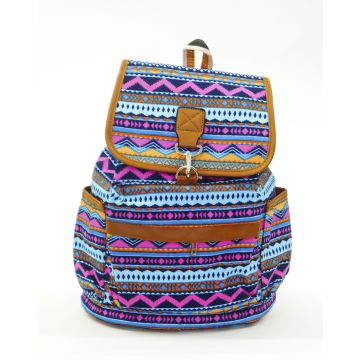 Mochila Real Arte Zigzag Multicolorida Real Arte