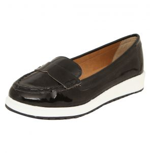 Mocassim DAFITI SHOES Flatform Preto DAFITI SHOES