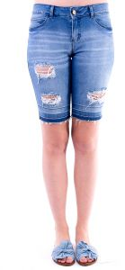 Bermuda Gup  s Jeans Destroyed Azul Gup  s Jeans