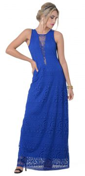 Vestido Longo PKS Girl Azul Royal PKS GIRL