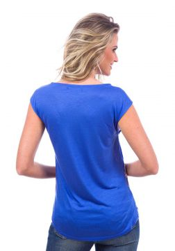 Blusa Colombo Woman Azul Royal Estampada Colombo Woman