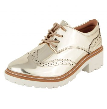 Oxford DAFITI SHOES Tratorado Dourado DAFITI SHOES