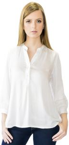 Camisa Despojada Silvana Harnisch Off White Silvana Harnisc