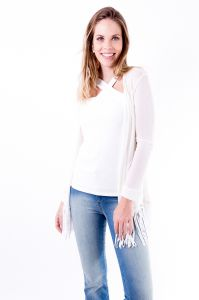 Casaqueto Gup  s Jeans Tricô Off White Gup  s Jeans