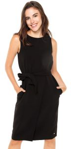 Vestido Tommy Hilfiger Jillian Envelope Dress Preto Tommy H