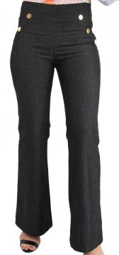 Calça 101 Resort Wear Flare Black Jeans 101 Resort Wear