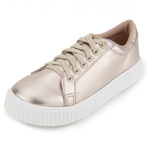 Tênis DAFITI SHOES Creeper Metalizado Dourado DAFITI SHOES