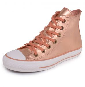 Tênis Couro Converse All Star CT AS Mettalic Leather HI Bro