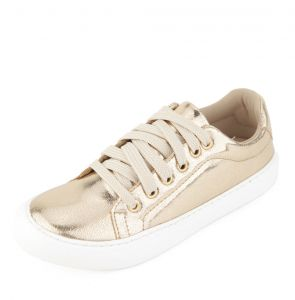 Tênis DAFITI SHOES Metalizado Dourado DAFITI SHOES