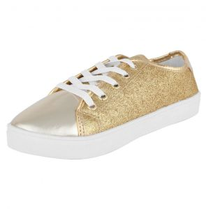 Tênis DAFITI SHOES Glitter Dourado DAFITI SHOES