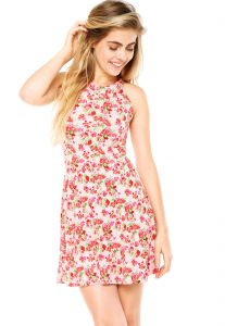 Vestido Fitwell Floral Rosa Fitwell