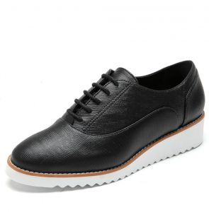 Oxford DAFITI SHOES Flatform Preto DAFITI SHOES