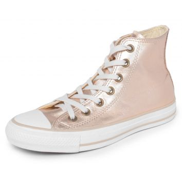 Tênis Couro Converse All Star CT AS Mettalic Leather HI Dou