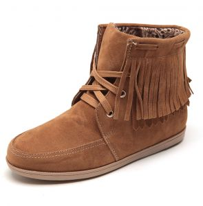 Bota Apache Mooncity Franjas Caramelo Facinelli by MOONCITY