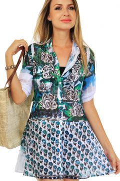 Vestido 101 Resort Wear Chemise Verde 101 Resort Wear
