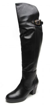 Bota Over The Knee Facinelli by MOONCITY Fivela Preto Facin