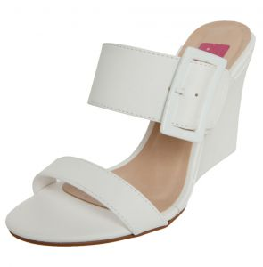 Sandália Pink Connection Mule Fivela Branco Pink Connection