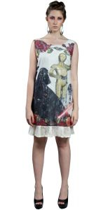 Vestido Mainstream Darth Vader Renda Multicolorido Mainstre