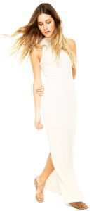 Vestido Longo Lucy in The Sky Glam Branco Lucy in The Sky
