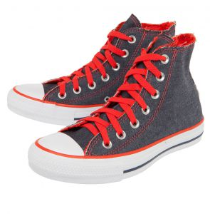 Tênis Converse CT All Star Denim Colors Hi Azul/Laranja Con