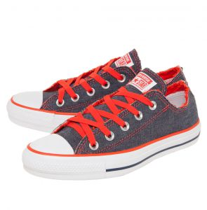 Tênis Converse CT All Star Denim Colors Ox Azul/Laranja Con