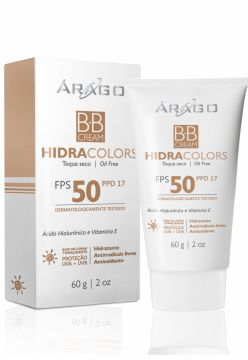 BB Cream Árago Dermocosméticos HidraColors FPS 50 - Bege -