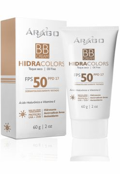 BB Cream Árago Dermocosméticos HidraColors FPS 50 - Bronze