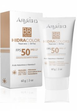 BB Cream Árago Dermocosméticos Hidracolors FPS 50 Natural -