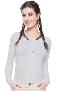 Cardigan Estilo Boutique Glam Branco Estilo Boutique