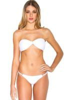 Biquini Luv Swimwear Plissado Regulador Branco Luv