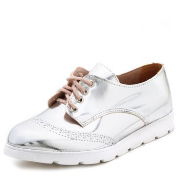 Oxford DAFITI SHOES Perfuros Prata DAFITI SHOES