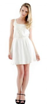 Vestido Use Lince Viscose Pala Renda Branco Use Lince